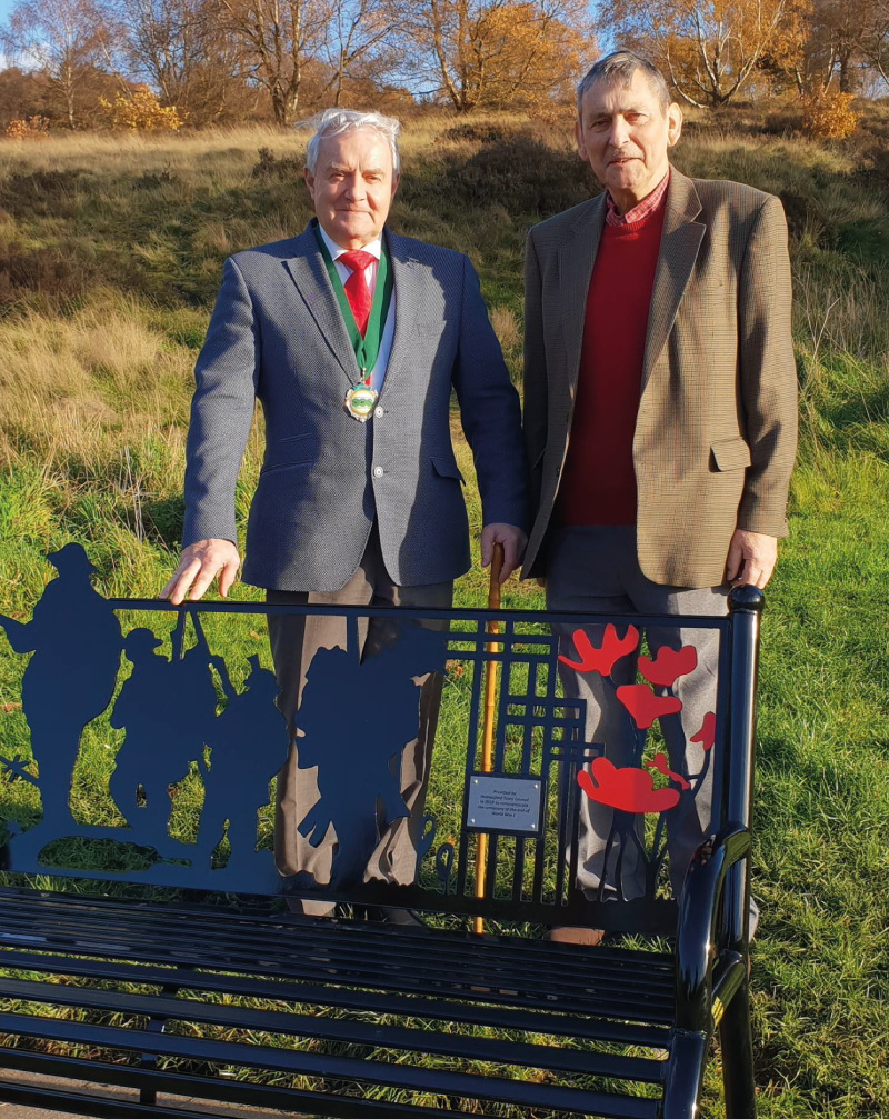 Commemorative bench takes pride of place