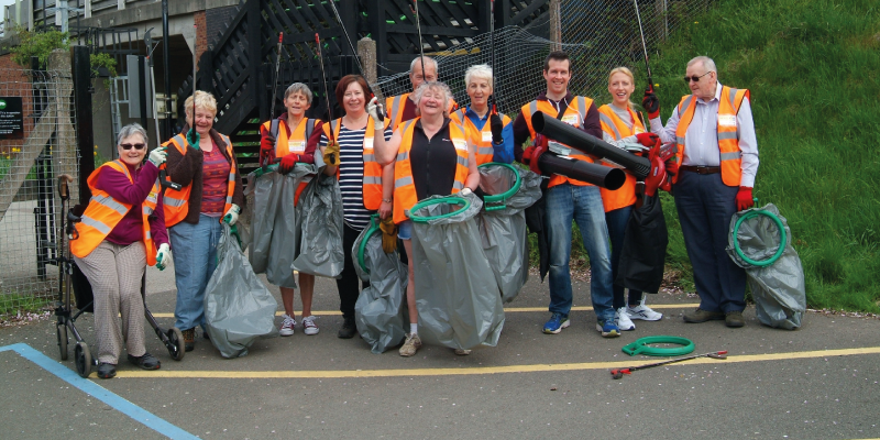 Council funds clean up in Hednesford