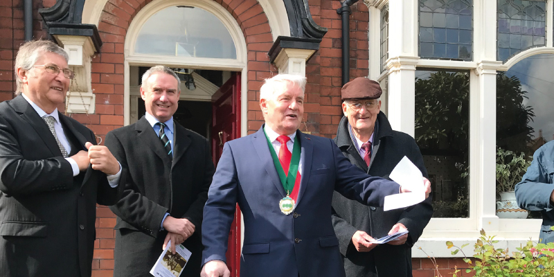 Miners' champion honoured with first blue plaque for Hednesford